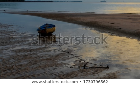 shallow shore during low tide in thailand stock photo © mps197