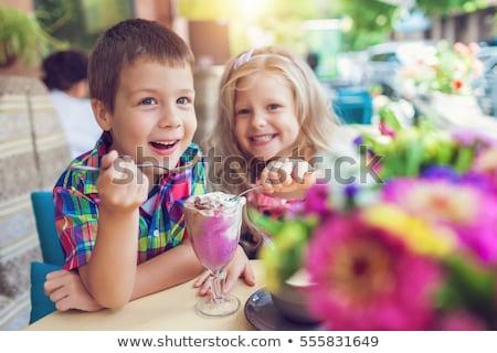 ребенка еды льда детей счастливым Сток-фото © jeancliclac