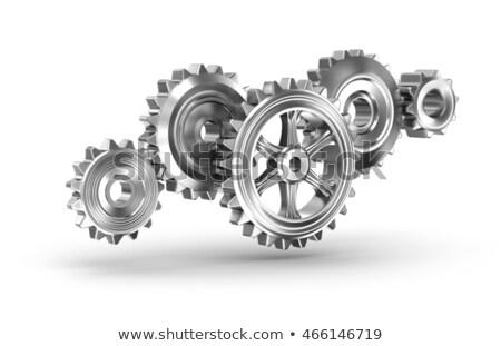 Procede engineering metaal versnellingen mechanisme ontwerp Stockfoto © tashatuvango