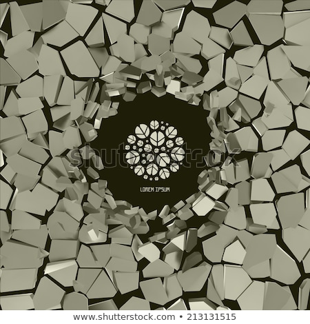 Image presenting smashed concrete wall Stock photo © konradbak