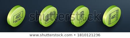 Multimédia zöld vektor gomb ikon terv Stock fotó © rizwanali3d