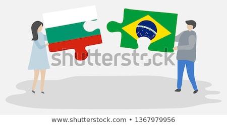 Brazylia Bułgaria flagi puzzle wektora obraz Zdjęcia stock © Istanbul2009