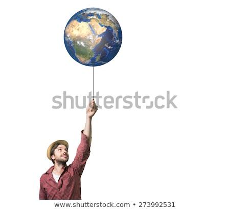 風船 地球 惑星 白 ストックフォト © make