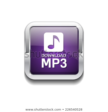 MP3 Download Violet Vector Icon Design Stock photo © rizwanali3d