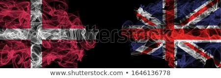 Reino Unido reino Dinamarca bandeiras quebra-cabeça isolado Foto stock © Istanbul2009
