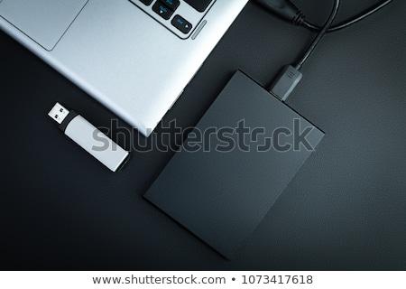 Usb drive on keyboard Stock photo © fuzzbones0