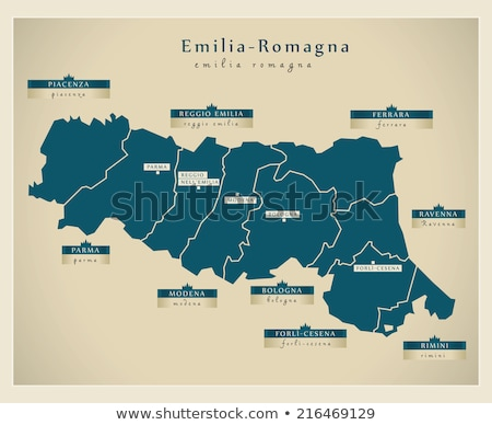 Map of Italy, Piacenza Stock photo © Istanbul2009