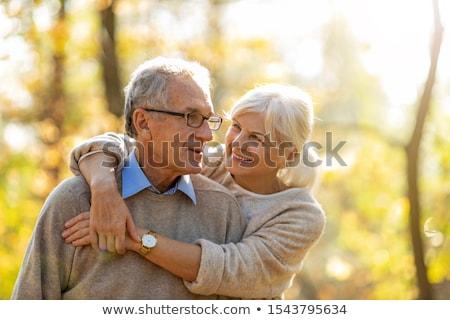 портрет счастливым пенсионер улыбаясь камеры Сток-фото © nyul