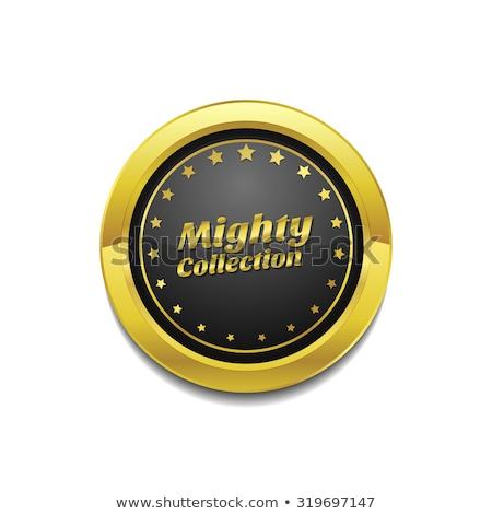 Potężny kolekcja złoty wektora ikona przycisk Zdjęcia stock © rizwanali3d