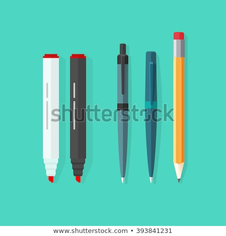 Ink Pen Red Vector Icon Button Stock photo © rizwanali3d