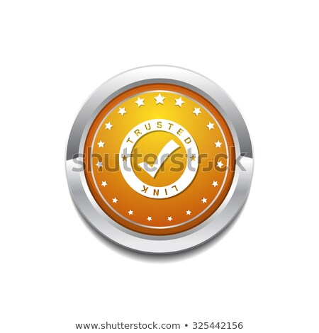 Trusted Link Yellow Vector Icon Button Stock photo © rizwanali3d