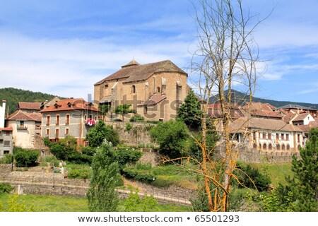 Romanesque cathedral church in Hecho Aragon Stock photo © lunamarina