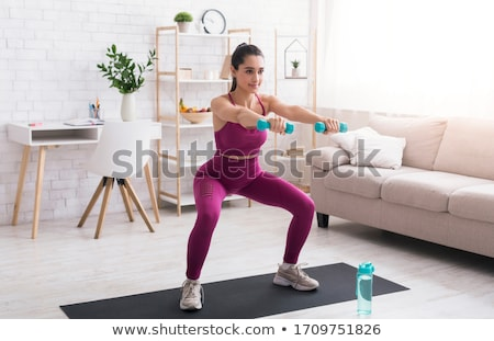 красивой · соответствовать · девушки · спорт · бюстгальтер · шорты - Сток-фото © svetography