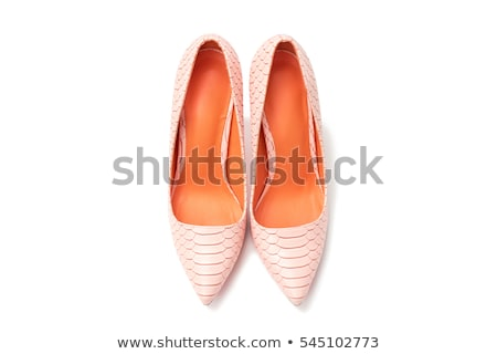 Laranja alto mulher sapatos isolado branco Foto stock © tetkoren