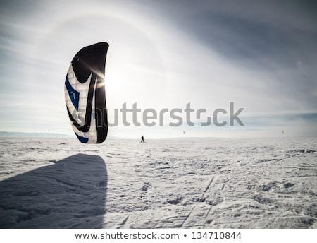 синий кайт снега Surfer небе солнце Сток-фото © H2O