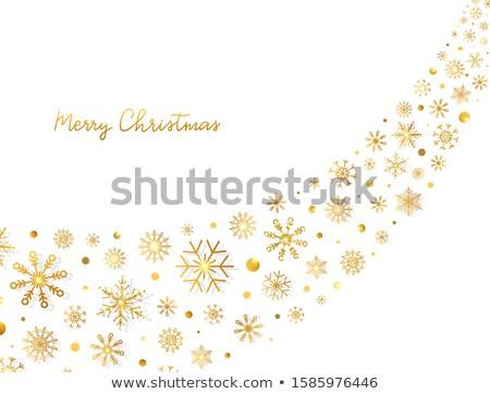 neşeli · Noel · altın · dizayn · eps - stok fotoğraf © rommeo79