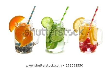świeże owoce wody mason jar pomarańcze Zdjęcia stock © ozgur