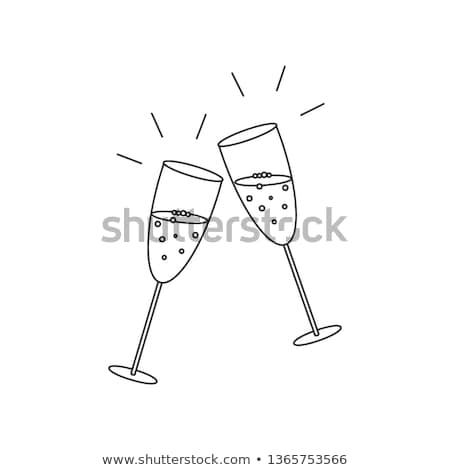бутылку · стекла · линия · икона · веб · мобильных - Сток-фото © RAStudio