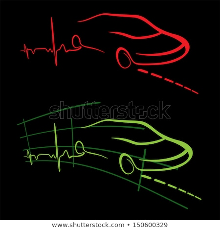Black Car On Graphical Charts Stok fotoğraf © Oxygen64