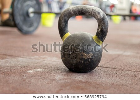 Close up view of kettlebells in a row Stock photo © wavebreak_media