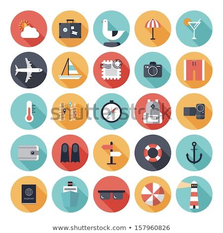 luggage symbol icon Illustration design Stock photo © kiddaikiddee