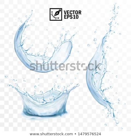 Splash kroon Ice Cube glas water Stockfoto © alex_l
