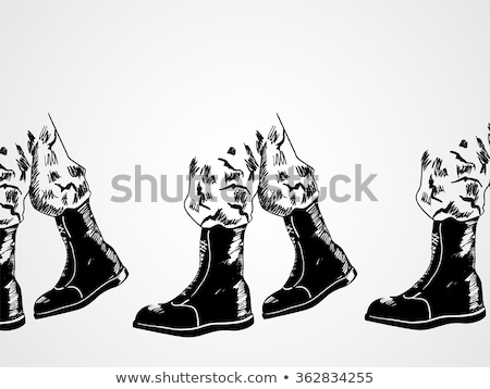 Simple sketches of the soldiers Stock photo © bluering