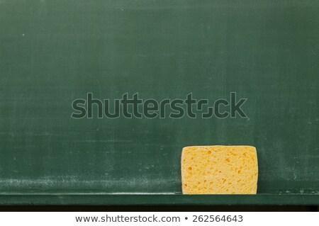 Iskolatábla szivacs copy space fal oktatás jókedv Stock fotó © viperfzk