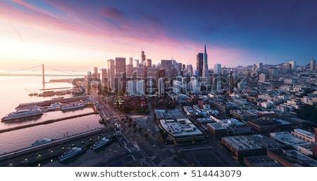 Zonsondergang silicium vallei missie park Stockfoto © yhelfman