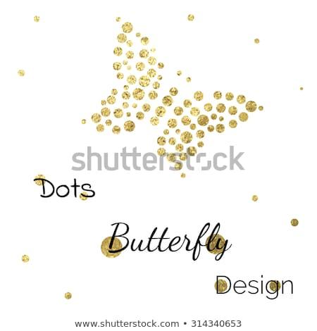 Diamond flower and butterfly background, vector illustration Stock photo © carodi
