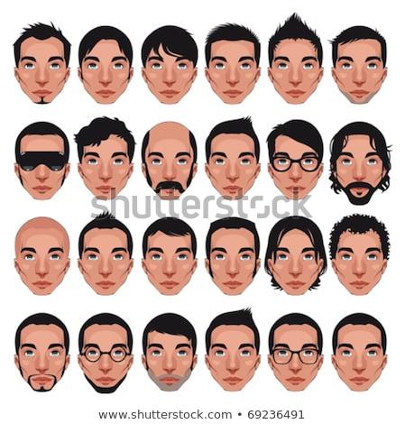 男性 文字 ショートパンツ サングラス ベクトル デザイン ストックフォト © robuart