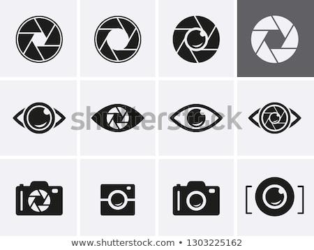 Logo icona dell'otturatore occhi design Foto d'archivio © cidepix