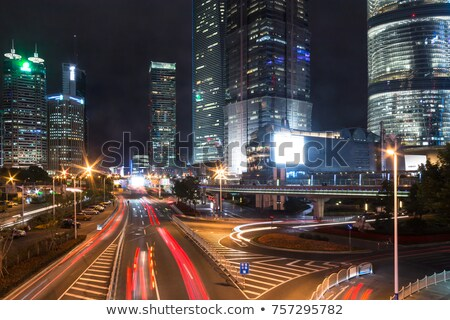 Cars motion on street in the downtown Stock photo © zurijeta