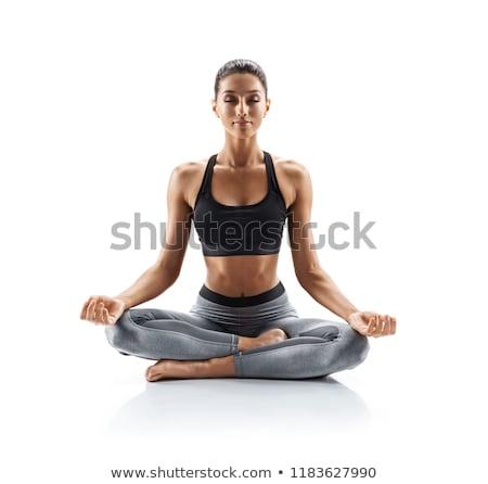гибкий йога спорт закат Сток-фото © deandrobot