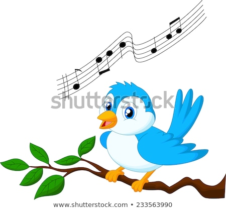 Blue bird music stock photo © sifis