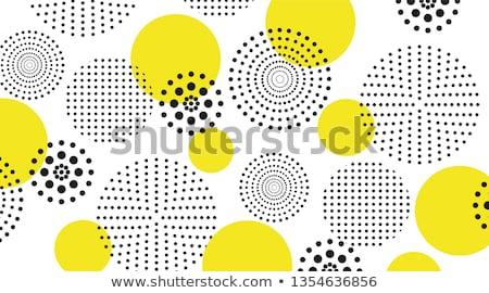 Vektor schwarz weiß Streifen Kreise Muster Stock foto © CreatorsClub