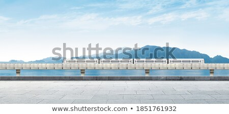 panoramic view of the floors with a train stock photo © artjazz