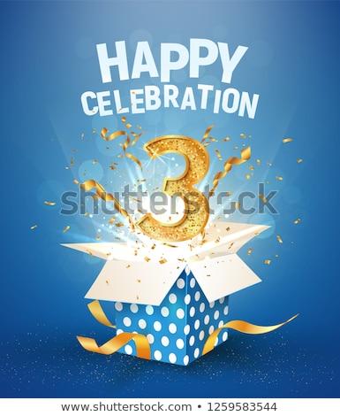 3rd anniversary celebration card template Stock photo © SArts