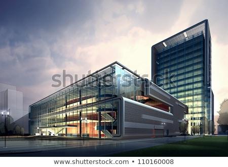 3D дизайна современное здание иллюстрация дома домой Сток-фото © bluering