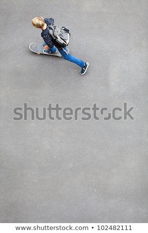 Skateboard on concrete flooring Stock photo © stevanovicigor