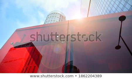Moderne gebouw achtergrond venster steen Stockfoto © martin33