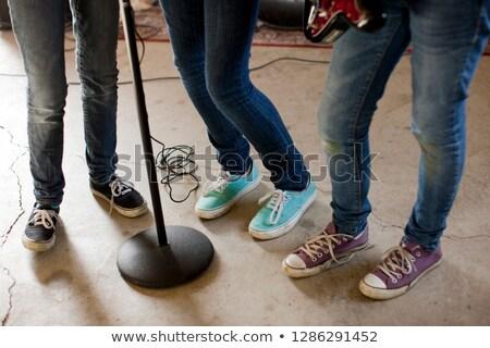 View musicisti piedi insieme discoteca Foto d'archivio © wavebreak_media