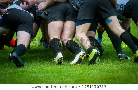 Player kicking rugby ball on grassy field Stock photo © wavebreak_media