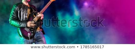 Férfi gitáros előad koncert mikrofon színpad Stock fotó © wavebreak_media
