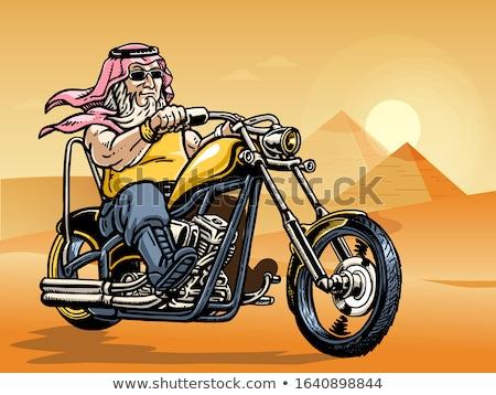 Rider On Chopper Stock photo © derocz