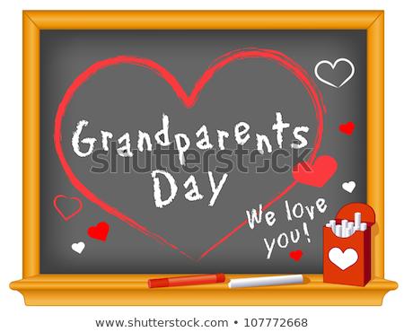 Nagymama nagyapa nagyszülők nap illusztráció érett Stock fotó © popaukropa