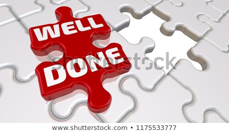 Finish - Text on Red Puzzles. Stock photo © tashatuvango