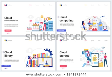 Database Concept. Folders in Catalog. Stock photo © tashatuvango