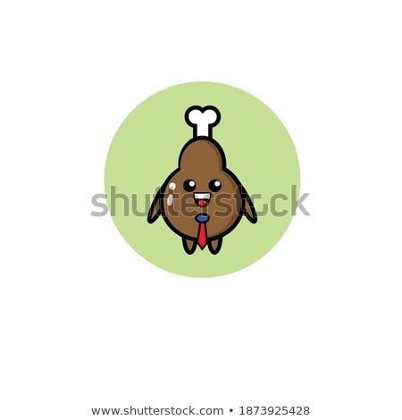 Foto stock: Pollo · cáscara · de · huevo · maletín · funny · carácter · feliz