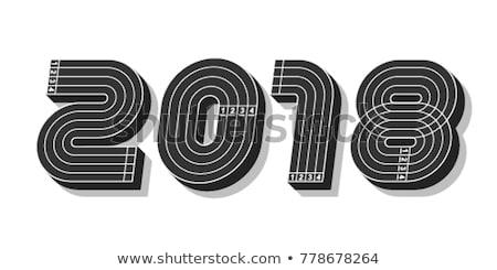 Number 2018 on running track Stock photo © stevanovicigor